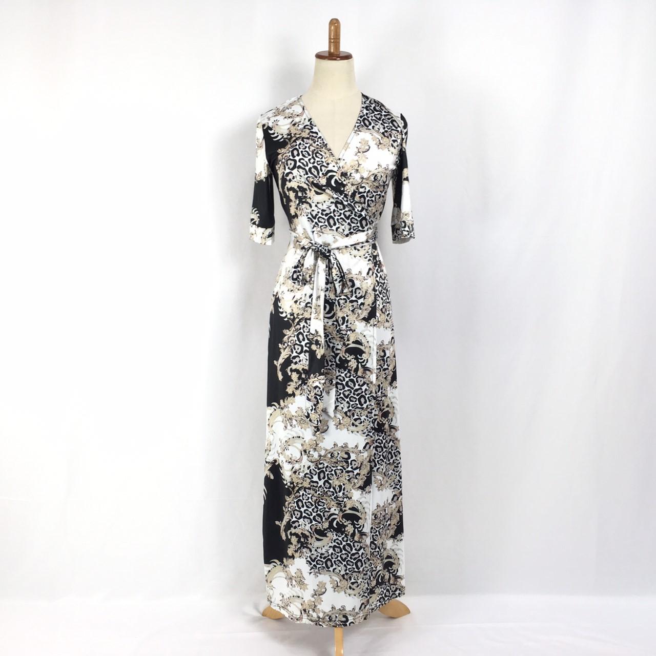 韓国 ファッション ワンピース パーティードレス ロング マキシ 夏 春 パーティー ブライダル PTXF019 結婚式 お呼ばれ カシュクール ハイショルダー ウエストマー 二次会 セレブ きれいめの写真11枚目