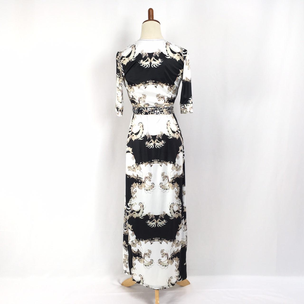 韓国 ファッション ワンピース パーティードレス ロング マキシ 夏 春 パーティー ブライダル PTXF019 結婚式 お呼ばれ カシュクール ハイショルダー ウエストマー 二次会 セレブ きれいめの写真13枚目