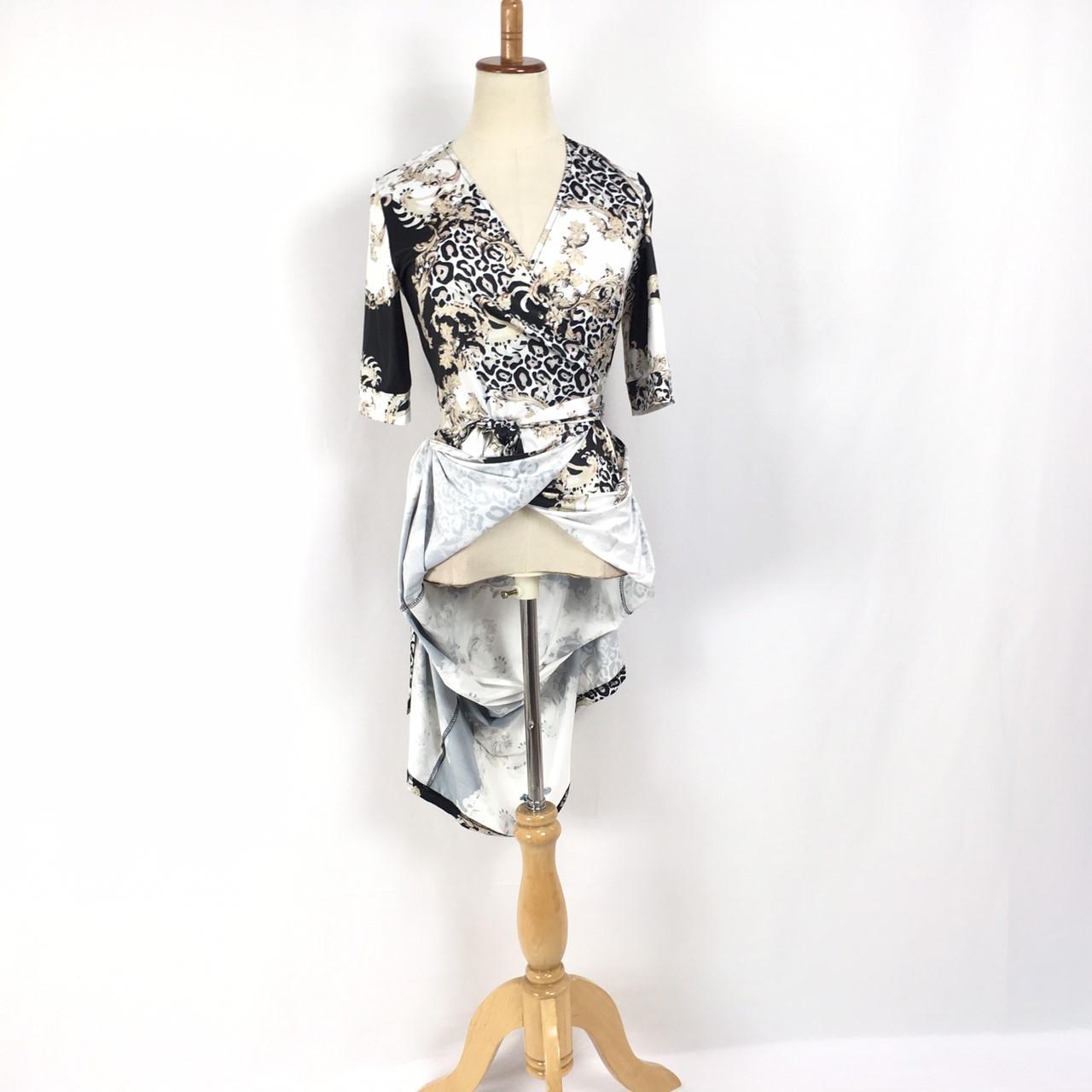 韓国 ファッション ワンピース パーティードレス ロング マキシ 夏 春 パーティー ブライダル PTXF019 結婚式 お呼ばれ カシュクール ハイショルダー ウエストマー 二次会 セレブ きれいめの写真18枚目