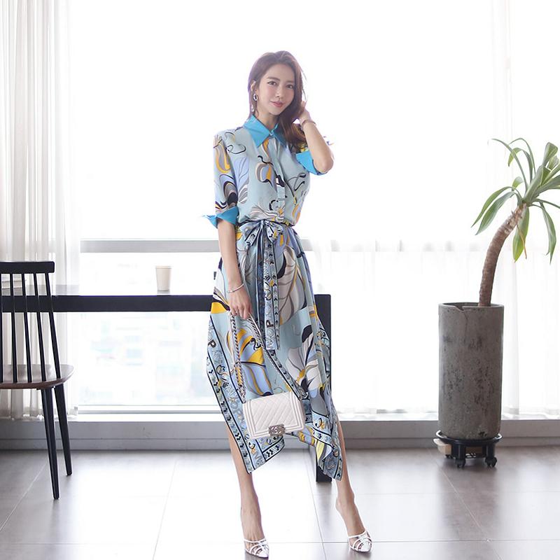 【即納】韓国 ファッション ワンピース パーティードレス ひざ丈 ミディアム 夏 春 パーティー ブライダル SPTXF023 結婚式 お呼ばれ リゾートワンピース ハワイ  二次会 セレブ きれいめの写真2枚目