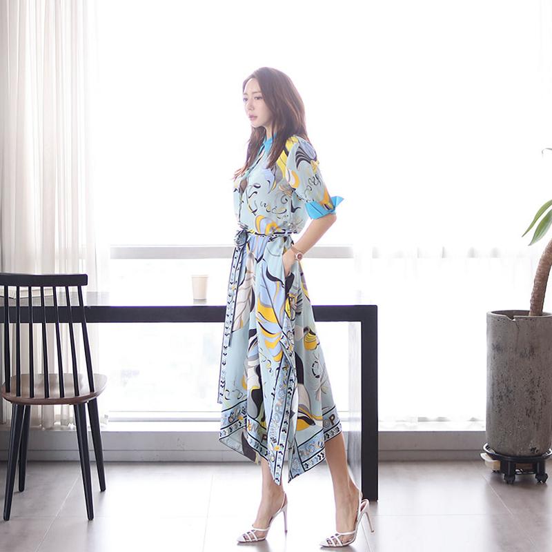 【即納】韓国 ファッション ワンピース パーティードレス ひざ丈 ミディアム 夏 春 パーティー ブライダル SPTXF023 結婚式 お呼ばれ リゾートワンピース ハワイ  二次会 セレブ きれいめの写真3枚目