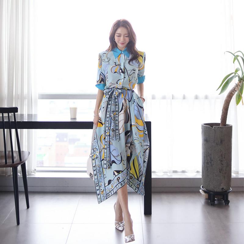 【即納】韓国 ファッション ワンピース パーティードレス ひざ丈 ミディアム 夏 春 パーティー ブライダル SPTXF023 結婚式 お呼ばれ リゾートワンピース ハワイ  二次会 セレブ きれいめの写真4枚目