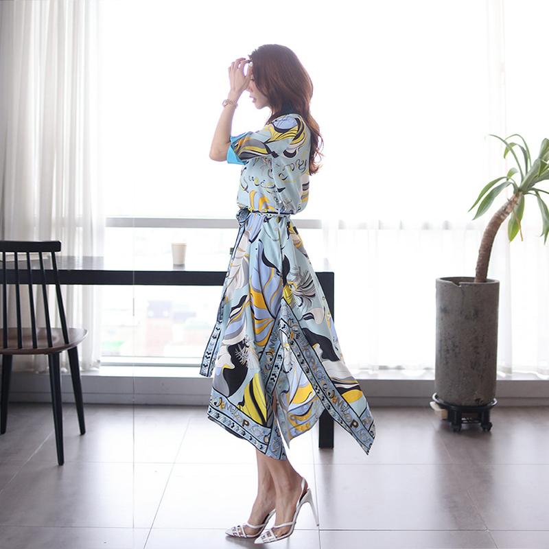 【即納】韓国 ファッション ワンピース パーティードレス ひざ丈 ミディアム 夏 春 パーティー ブライダル SPTXF023 結婚式 お呼ばれ リゾートワンピース ハワイ  二次会 セレブ きれいめの写真6枚目