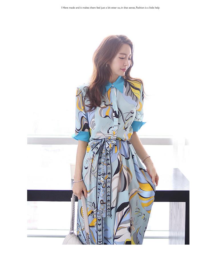 【即納】韓国 ファッション ワンピース パーティードレス ひざ丈 ミディアム 夏 春 パーティー ブライダル SPTXF023 結婚式 お呼ばれ リゾートワンピース ハワイ  二次会 セレブ きれいめの写真7枚目