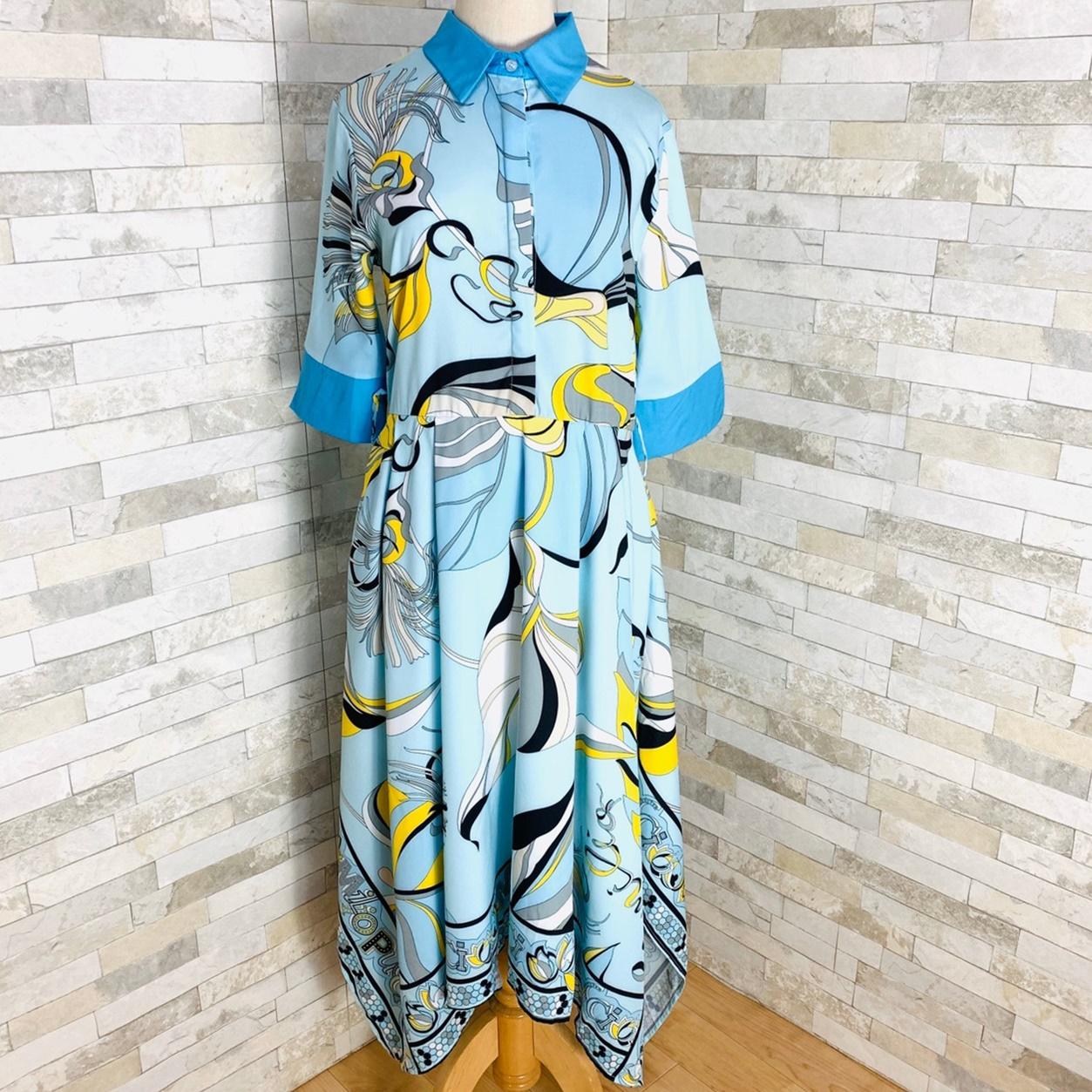【即納】韓国 ファッション ワンピース パーティードレス ひざ丈 ミディアム 夏 春 パーティー ブライダル SPTXF023 結婚式 お呼ばれ リゾートワンピース ハワイ  二次会 セレブ きれいめの写真10枚目