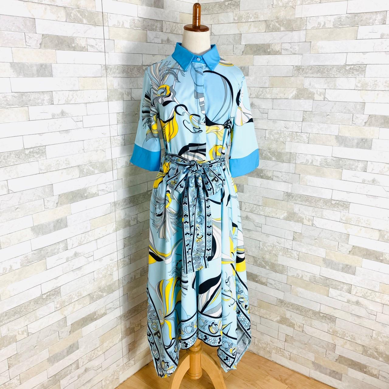 【即納】韓国 ファッション ワンピース パーティードレス ひざ丈 ミディアム 夏 春 パーティー ブライダル SPTXF023 結婚式 お呼ばれ リゾートワンピース ハワイ  二次会 セレブ きれいめの写真11枚目