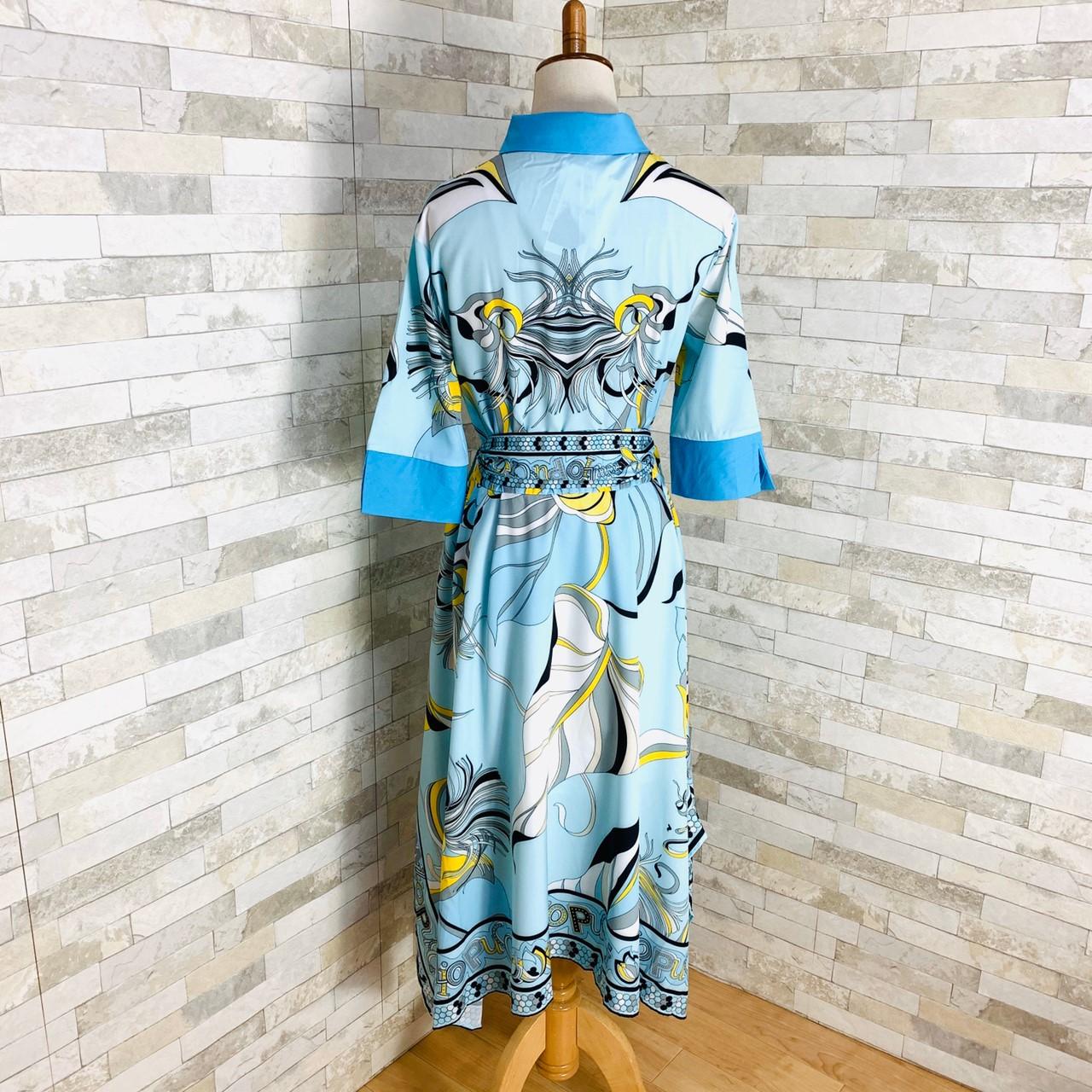 【即納】韓国 ファッション ワンピース パーティードレス ひざ丈 ミディアム 夏 春 パーティー ブライダル SPTXF023 結婚式 お呼ばれ リゾートワンピース ハワイ  二次会 セレブ きれいめの写真14枚目