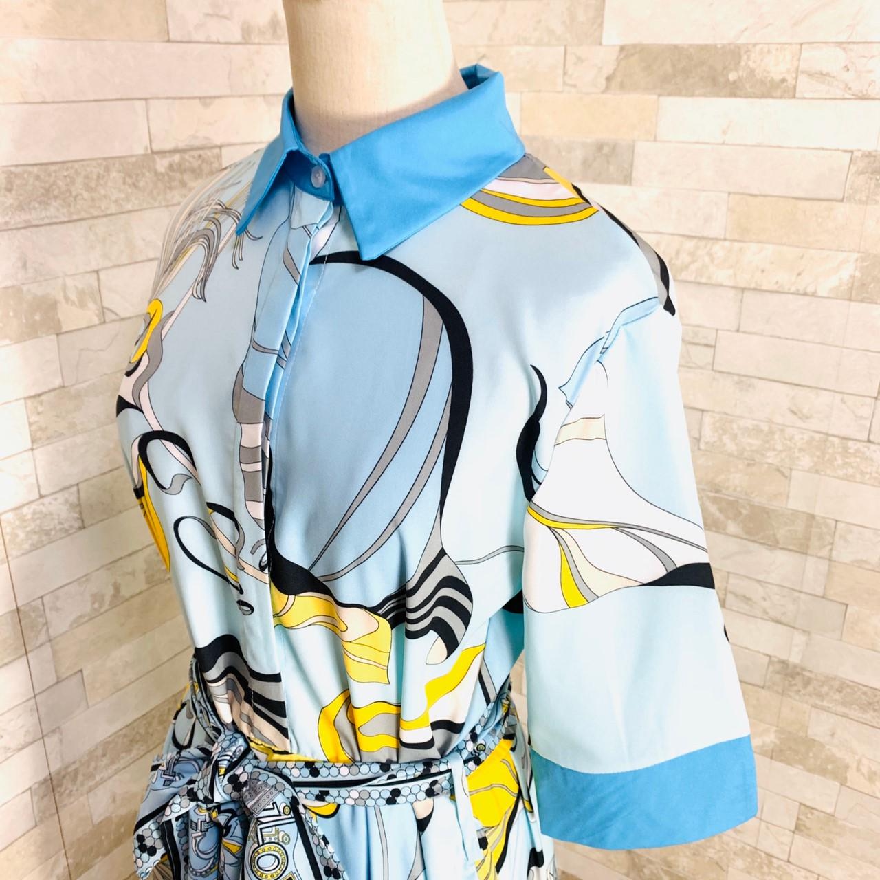 【即納】韓国 ファッション ワンピース パーティードレス ひざ丈 ミディアム 夏 春 パーティー ブライダル SPTXF023 結婚式 お呼ばれ リゾートワンピース ハワイ  二次会 セレブ きれいめの写真15枚目