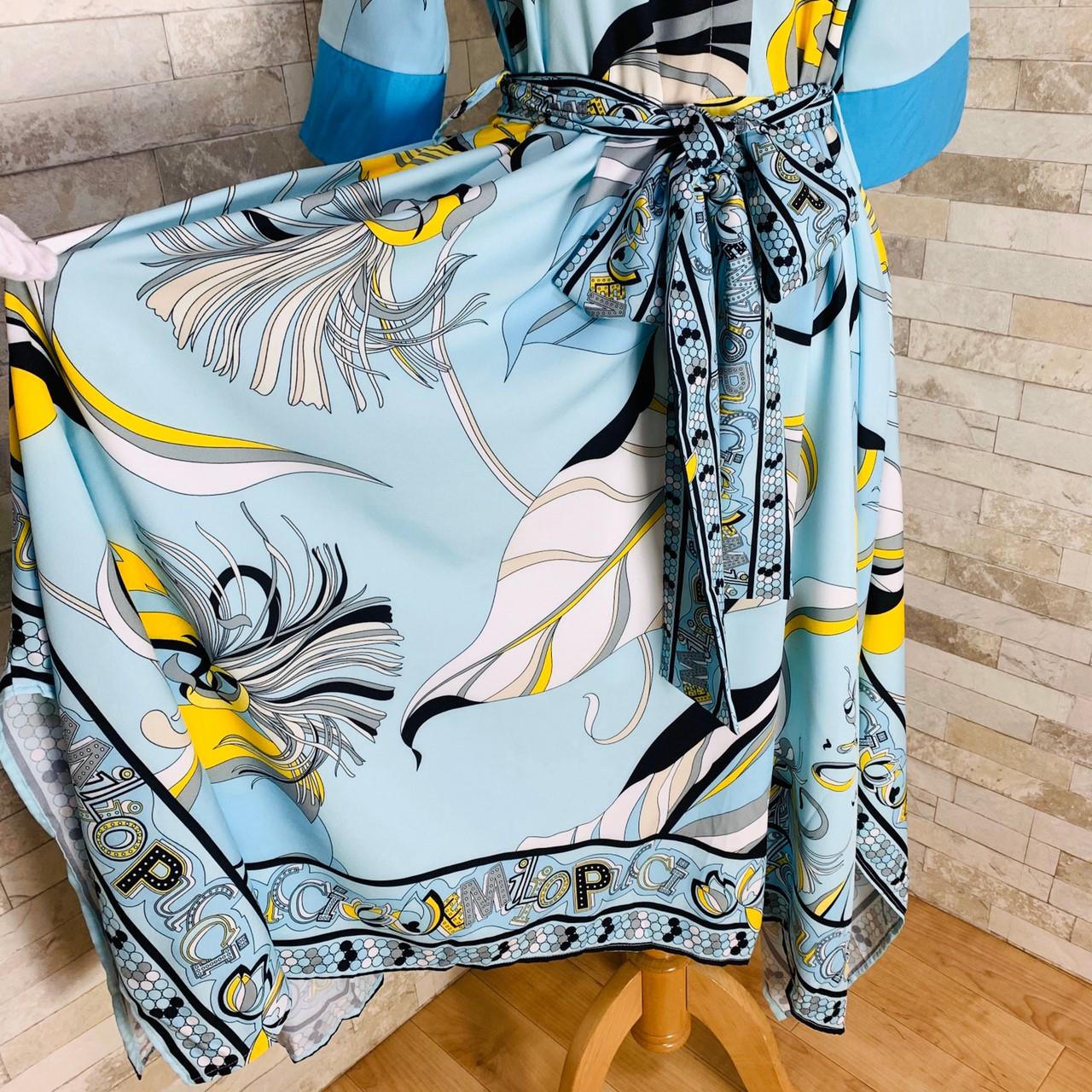 【即納】韓国 ファッション ワンピース パーティードレス ひざ丈 ミディアム 夏 春 パーティー ブライダル SPTXF023 結婚式 お呼ばれ リゾートワンピース ハワイ  二次会 セレブ きれいめの写真19枚目