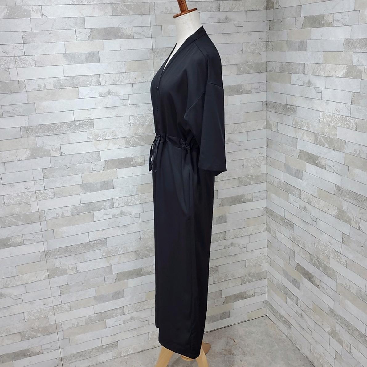 韓国 ファッション オールインワン サロペット 春 夏 カジュアル PTXF271  ドロップショルダー Vネック 七分袖 ワイド 九分丈パンツ リゾート モード オルチャン シンプル 定番 セレカジの写真18枚目