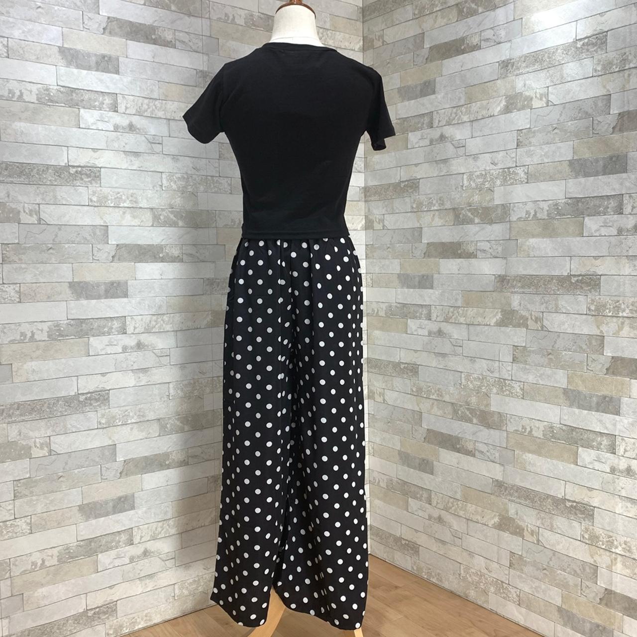 【即納】韓国 ファッション セットアップ 春 夏 カジュアル SPTXF278  クロスデザイン ショート Tシャツ シフォン ワイドストレートパンツ リゾート オルチャン シンプル 定番 セレカジの写真15枚目