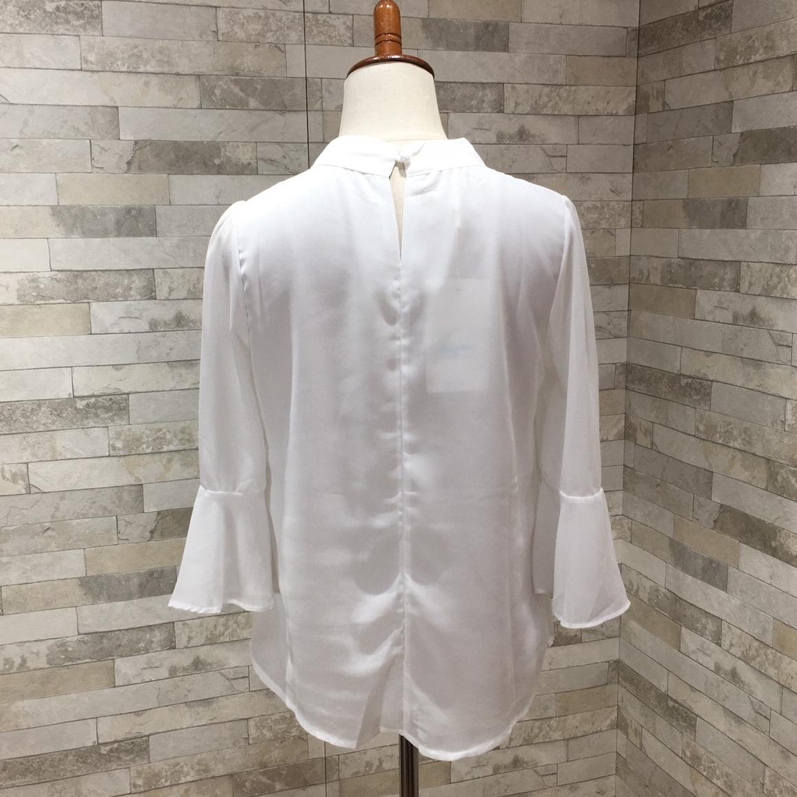 「ワードローブに1着欲しい☆」ベーシックなハイネックブラウス 夏 春 PTXF305の写真16枚目