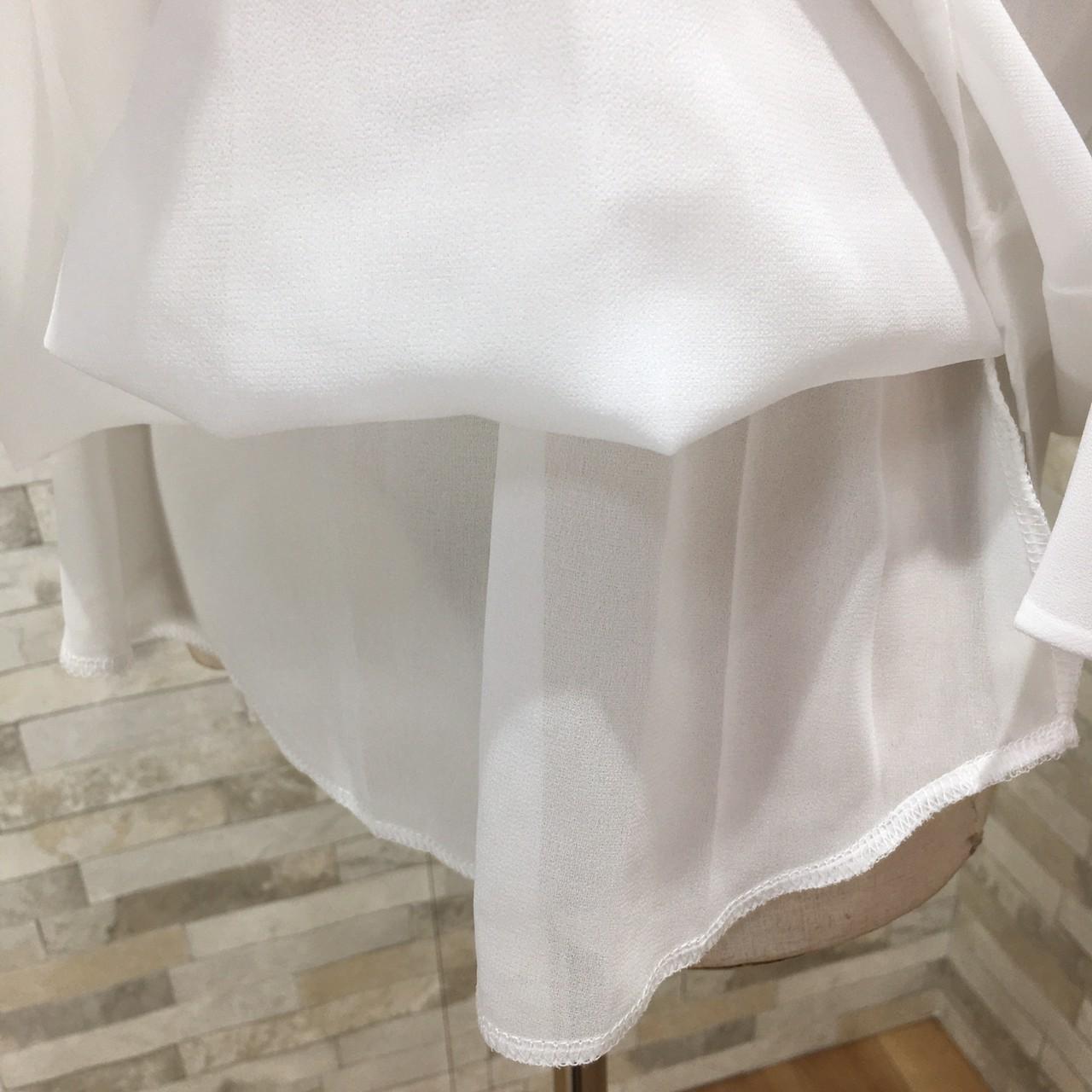 「ワードローブに1着欲しい☆」ベーシックなハイネックブラウス 夏 春 PTXF305の写真18枚目