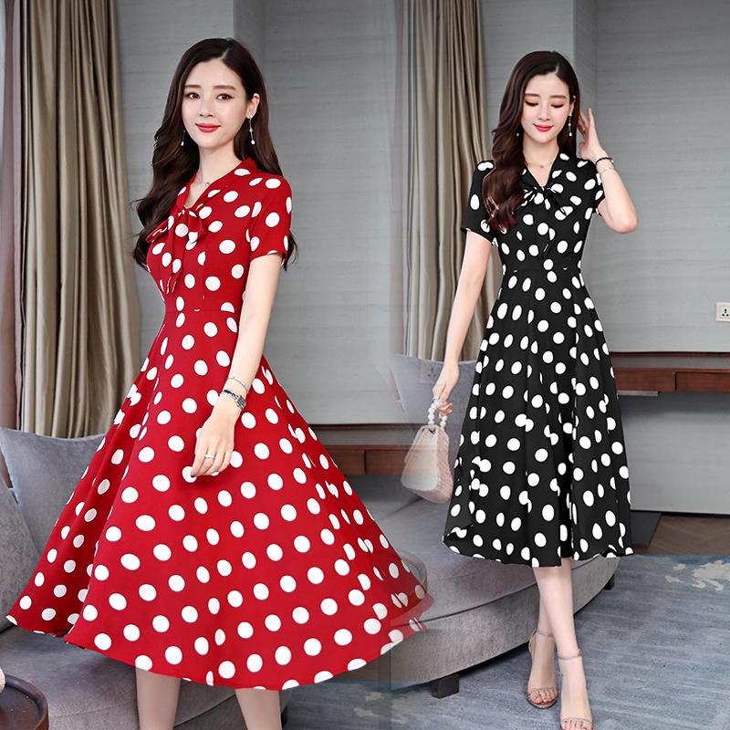 韓国 ファッション ワンピース パーティードレス ひざ丈 ミディアム 夏 春 パーティー ブライダル PTXF476 結婚式 お呼ばれ リゾートワンピース ハワイ レトロ ポ 二次会 セレブ きれいめの写真2枚目
