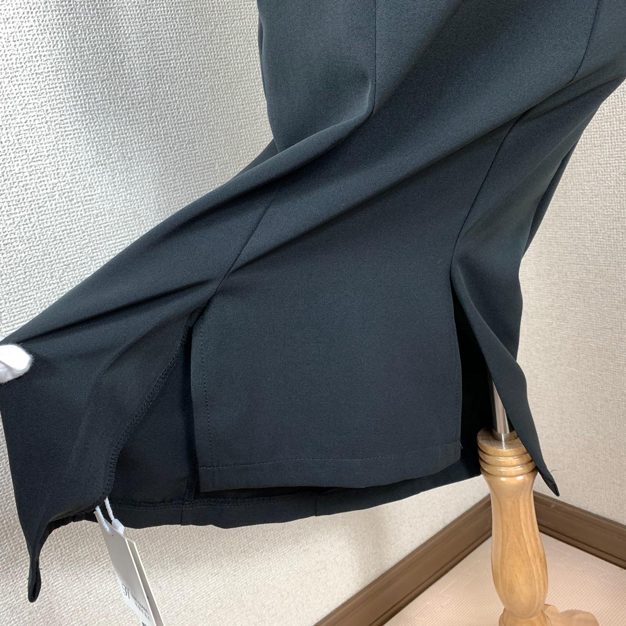 【即納】韓国 ファッション ワンピース パーティードレス ひざ丈 ミディアム 夏 春 パーティー ブライダル SPTXF591 結婚式 お呼ばれ シースルー スカラップ イレ 二次会 セレブ きれいめの写真11枚目