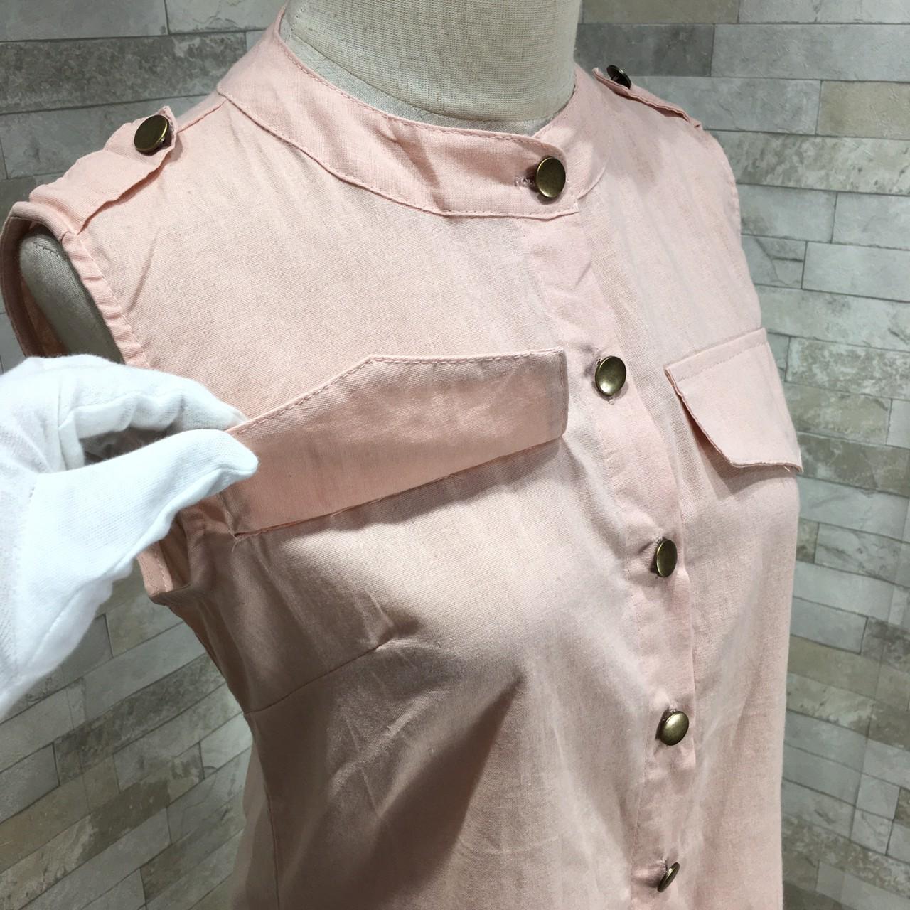 【即納】韓国 ファッション セットアップ 夏 春 カジュアル SPTXF595  バンドカラー フロントボタン ミニワンピース チュールスカート レイヤード オルチャン シンプル 定番 セレカジの写真16枚目