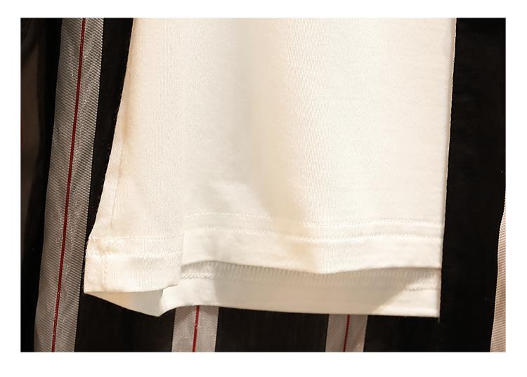 「絶妙なバランス☆」ストライプ柄のセットアップ☆ 夏 春 PTXF633の写真14枚目