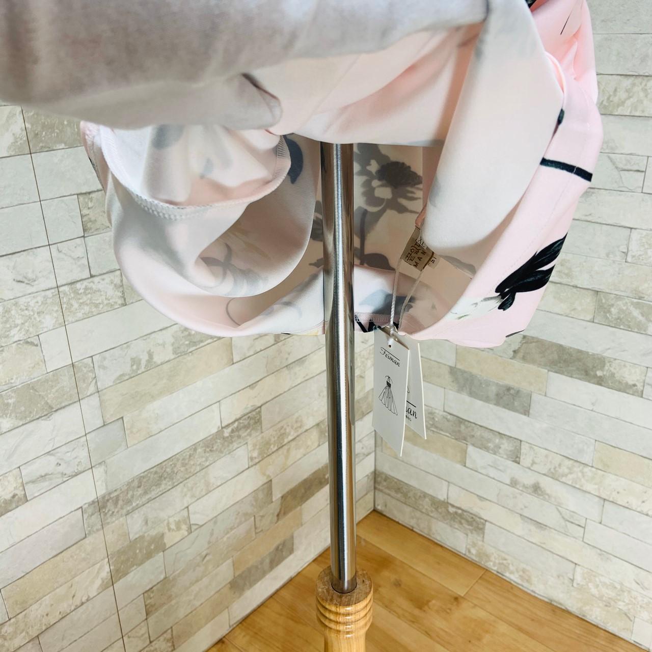 【即納】韓国 ファッション ワンピース パーティードレス ショート ミニ丈 夏 春 パーティー ブライダル SPTXF770 結婚式 お呼ばれ カシュクール ラップ風 ドレー 二次会 セレブ きれいめの写真9枚目