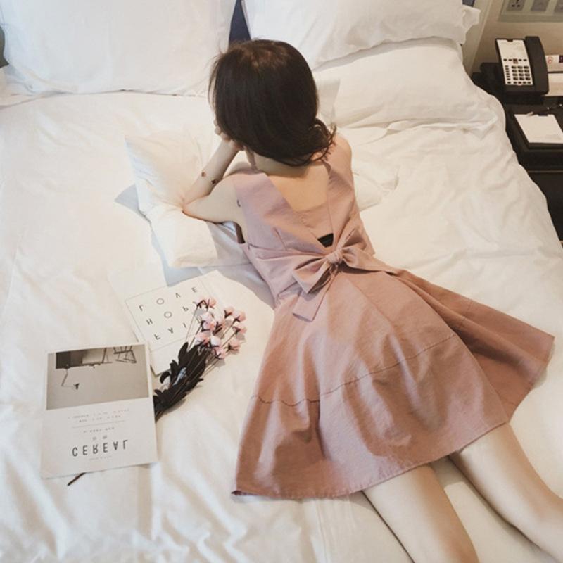 【即納】韓国 ファッション ワンピース パーティードレス ショート ミニ丈 夏 春 パーティー ブライダル SPTXF859 結婚式 お呼ばれ リゾートワンピース ハワイ カ 二次会 セレブ きれいめの写真4枚目