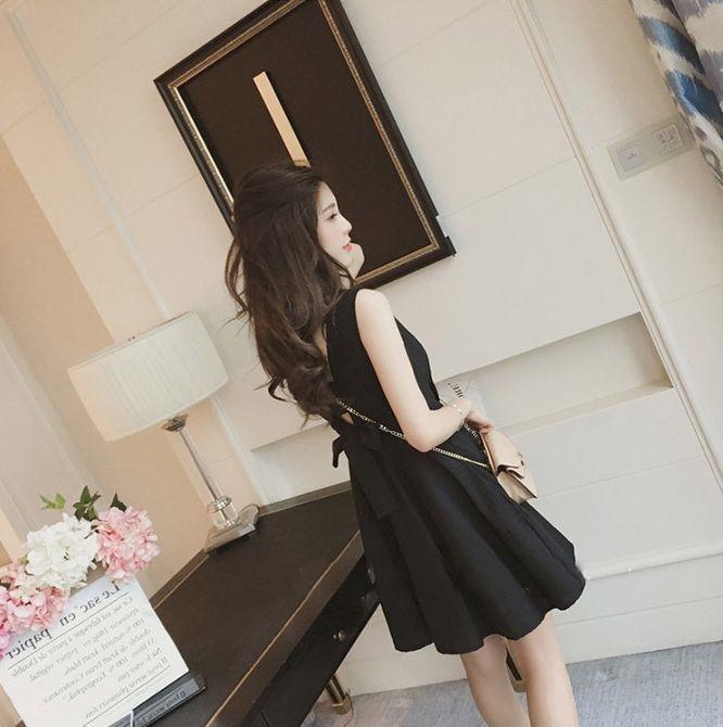 【即納】韓国 ファッション ワンピース パーティードレス ショート ミニ丈 夏 春 パーティー ブライダル SPTXF859 結婚式 お呼ばれ リゾートワンピース ハワイ カ 二次会 セレブ きれいめの写真8枚目