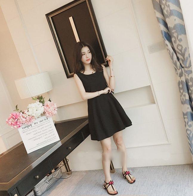 【即納】韓国 ファッション ワンピース パーティードレス ショート ミニ丈 夏 春 パーティー ブライダル SPTXF859 結婚式 お呼ばれ リゾートワンピース ハワイ カ 二次会 セレブ きれいめの写真12枚目