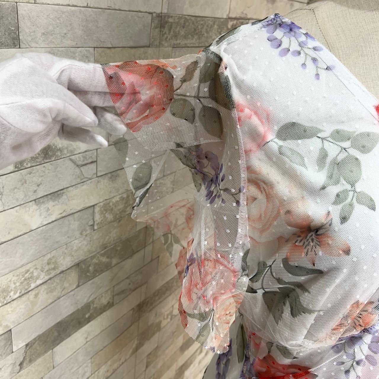 【即納】韓国 ファッション ワンピース パーティードレス ひざ丈 ミディアム 春 夏 パーティー ブライダル SPTXG050 結婚式 お呼ばれ 深Vネック ドレープ加工 ハ 二次会 セレブ きれいめの写真11枚目