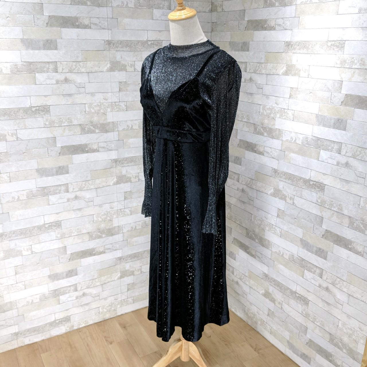 【即納】韓国 ファッション パーティードレス 結婚式 お呼ばれドレス セットアップ 春 秋 冬 パーティー ブライダル SPTXG143  シースルー ロングカフス キャミワ 二次会 セレブ きれいめの写真12枚目