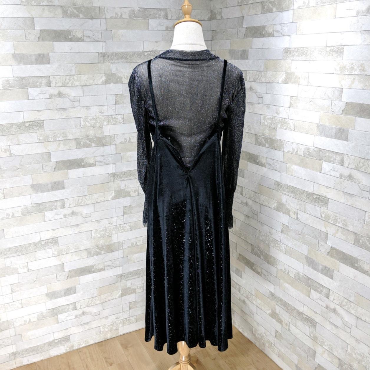 【即納】韓国 ファッション パーティードレス 結婚式 お呼ばれドレス セットアップ 春 秋 冬 パーティー ブライダル SPTXG143  シースルー ロングカフス キャミワ 二次会 セレブ きれいめの写真16枚目