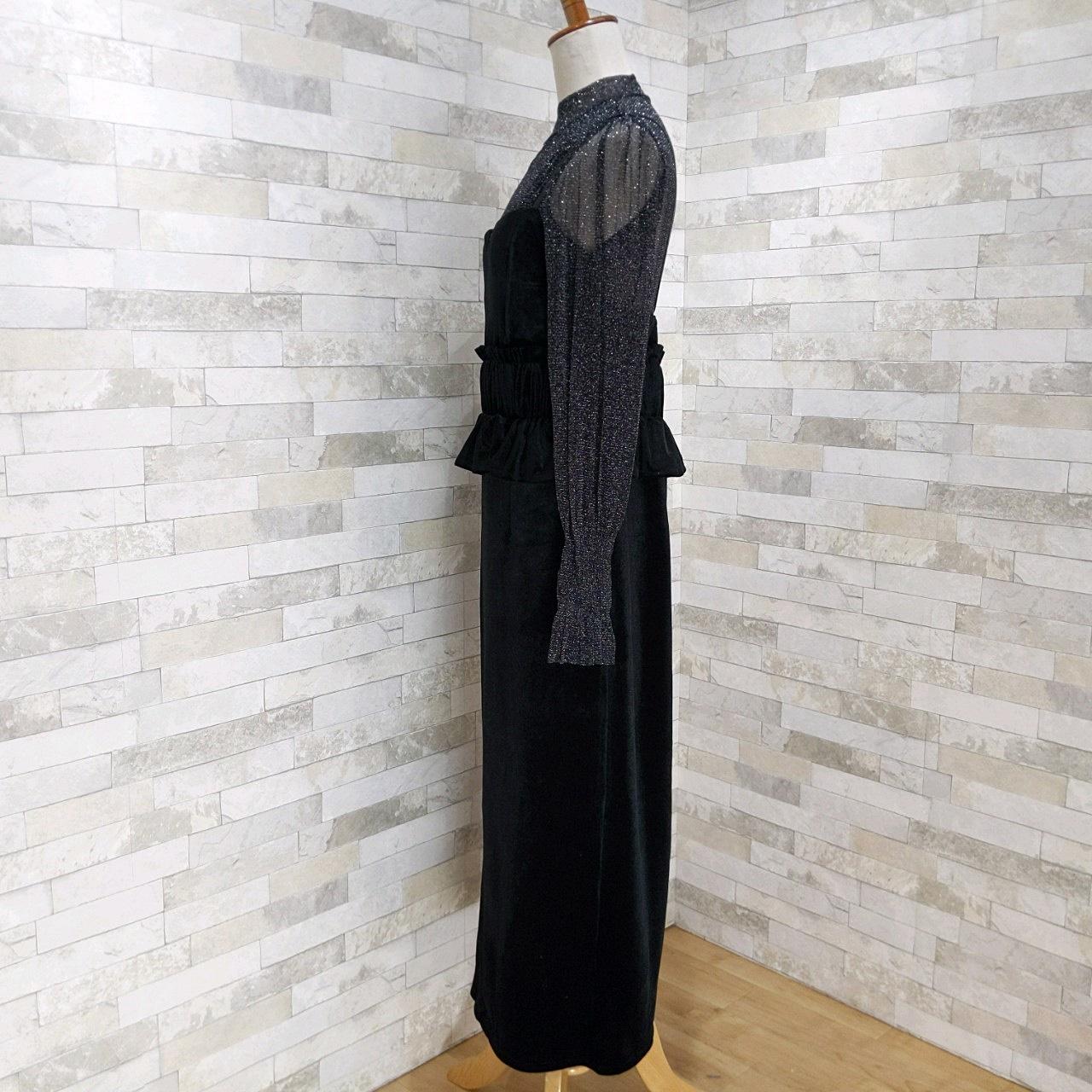 【即納】韓国 ファッション パーティードレス 結婚式 お呼ばれドレス セットアップ 秋 冬 春 パーティー ブライダル SPTXG154  シースルー ペプラム タイト キャ 二次会 セレブ きれいめの写真11枚目