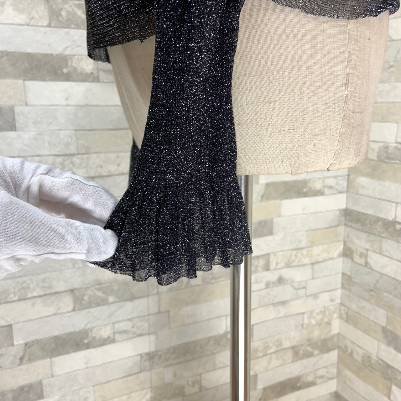 【即納】韓国 ファッション パーティードレス 結婚式 お呼ばれドレス セットアップ 秋 冬 春 パーティー ブライダル SPTXG154  シースルー ペプラム タイト キャ 二次会 セレブ きれいめの写真17枚目