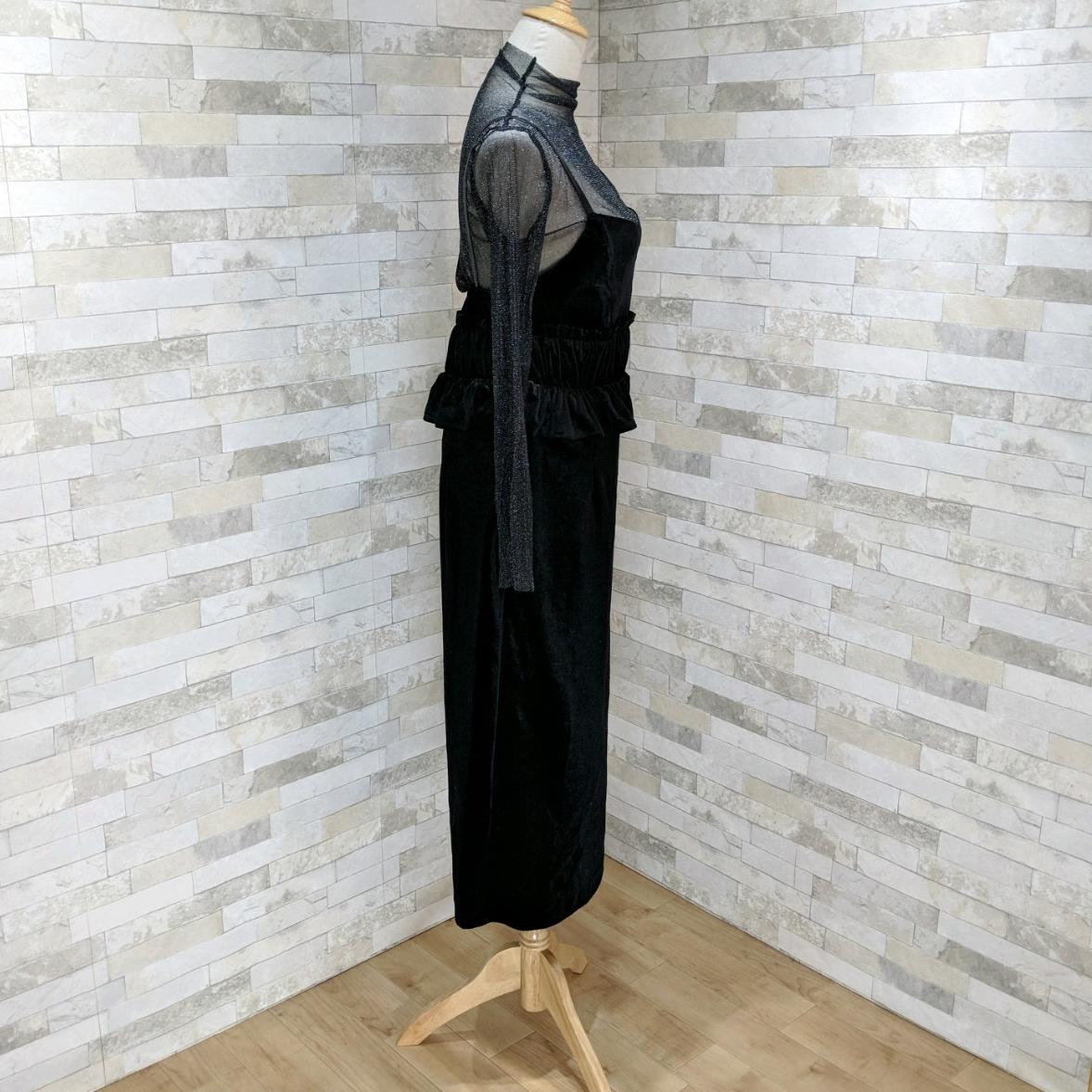 【即納】韓国 ファッション パーティードレス 結婚式 お呼ばれドレス セットアップ 春 秋 冬 パーティー ブライダル SPTXG169  シースルー ラメ ペプラム タイト 二次会 セレブ きれいめの写真13枚目
