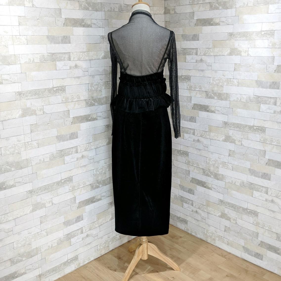 【即納】韓国 ファッション パーティードレス 結婚式 お呼ばれドレス セットアップ 春 秋 冬 パーティー ブライダル SPTXG169  シースルー ラメ ペプラム タイト 二次会 セレブ きれいめの写真14枚目