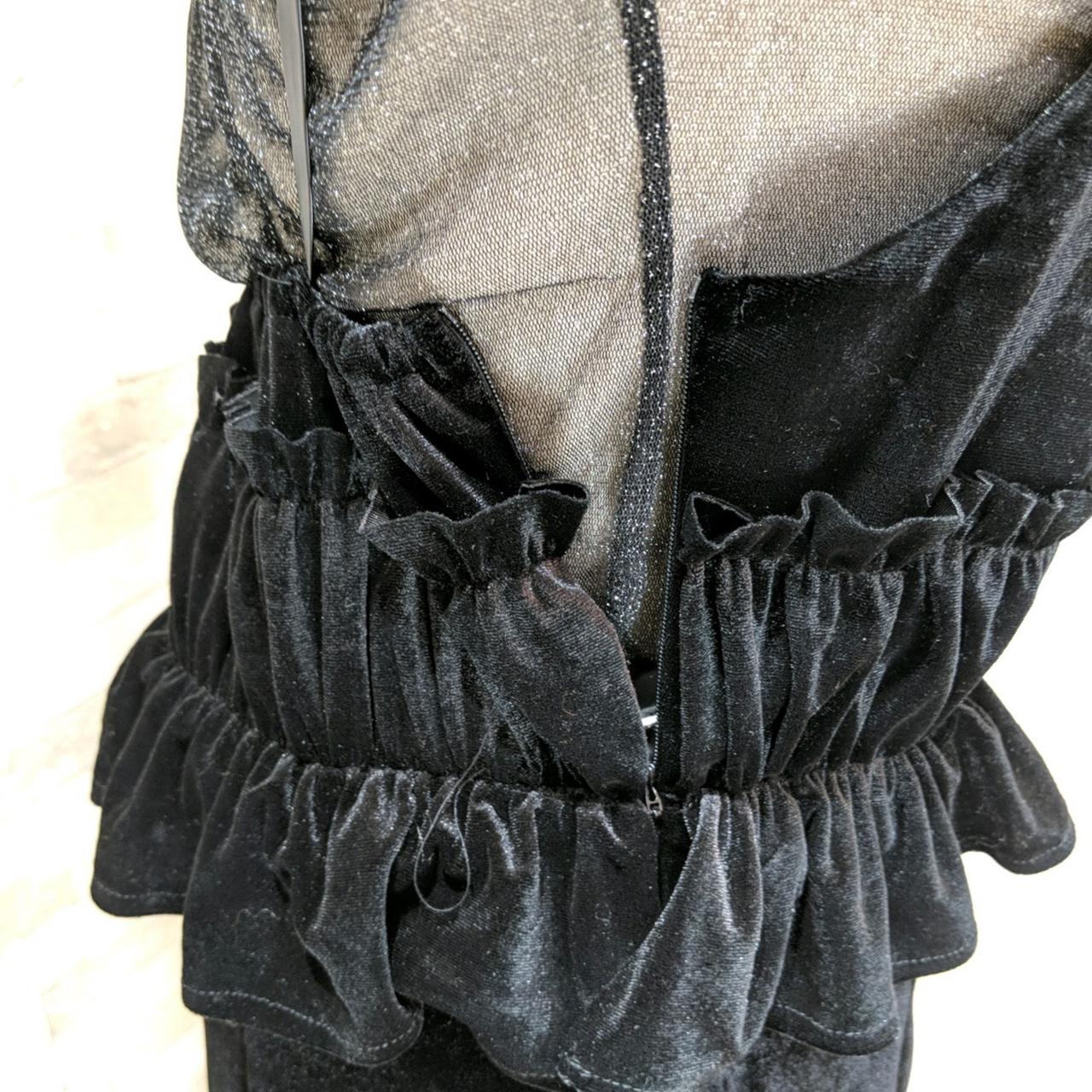 【即納】韓国 ファッション パーティードレス 結婚式 お呼ばれドレス セットアップ 春 秋 冬 パーティー ブライダル SPTXG169  シースルー ラメ ペプラム タイト 二次会 セレブ きれいめの写真18枚目