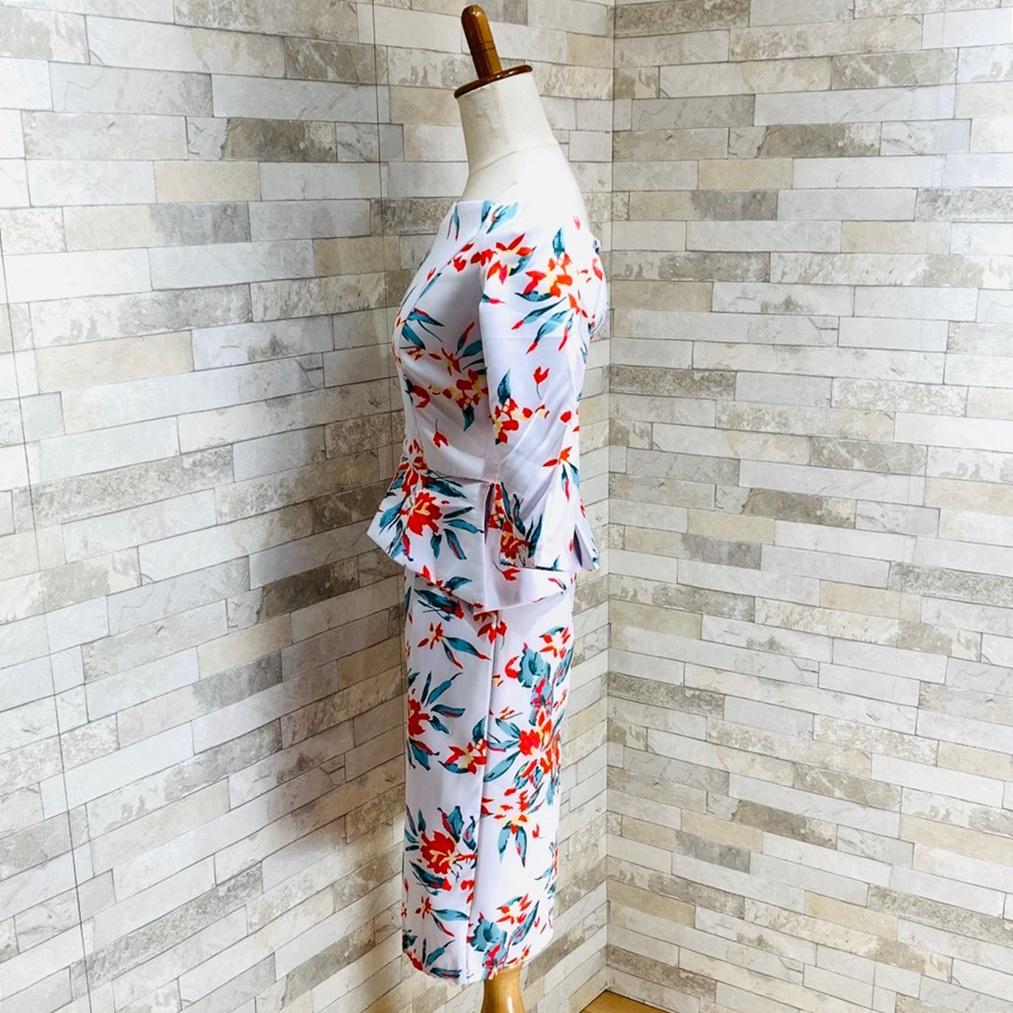 【即納】韓国 ファッション ワンピース パーティードレス ひざ丈 ミディアム 秋 冬 春 パーティー ブライダル SPTXG175 結婚式 お呼ばれ オフショルダー 七分袖  二次会 セレブ きれいめの写真4枚目