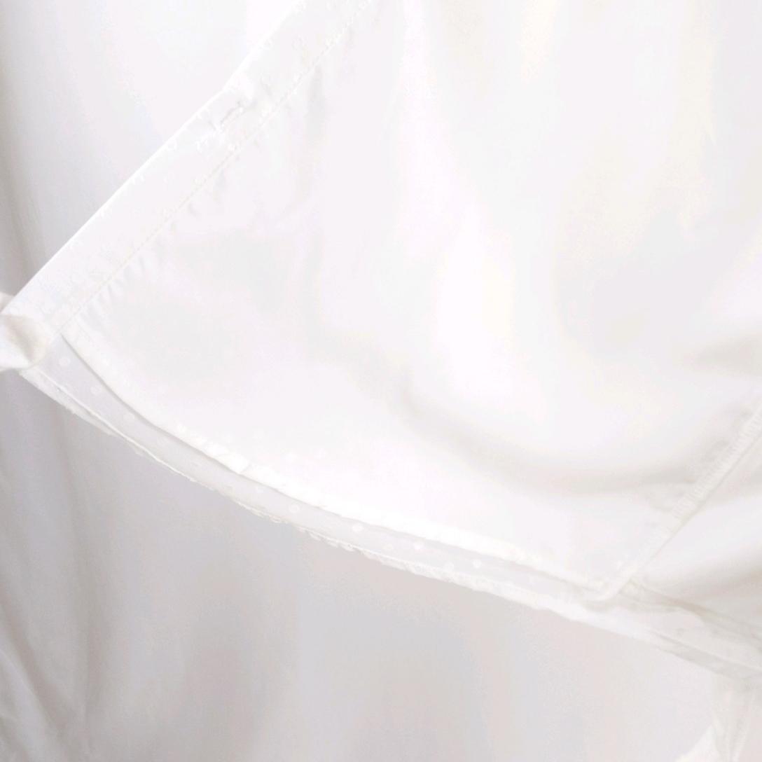 韓国 ファッション トップス ブラウス シャツ 春 夏 秋 カジュアル PTXG233  セルフドット リボンタイ シアー シフォン オルチャン シンプル 定番 セレカジの写真20枚目