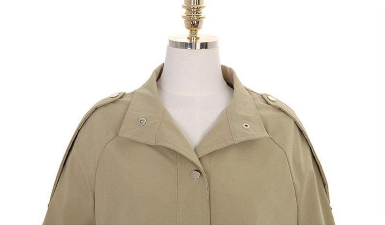 韓国 ファッション アウター トレンチコート 秋 冬 春 カジュアル PTXG245  スタンドカラー 袖リボン ウエストシェイプ オルチャン シンプル 定番 セレカジの写真16枚目
