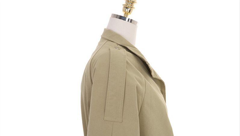 韓国 ファッション アウター トレンチコート 秋 冬 春 カジュアル PTXG245  スタンドカラー 袖リボン ウエストシェイプ オルチャン シンプル 定番 セレカジの写真17枚目