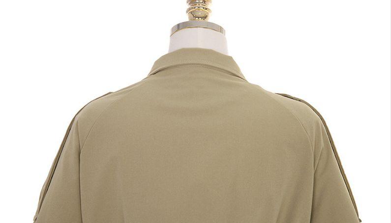 韓国 ファッション アウター トレンチコート 秋 冬 春 カジュアル PTXG245  スタンドカラー 袖リボン ウエストシェイプ オルチャン シンプル 定番 セレカジの写真18枚目