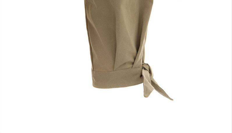 韓国 ファッション アウター トレンチコート 秋 冬 春 カジュアル PTXG245  スタンドカラー 袖リボン ウエストシェイプ オルチャン シンプル 定番 セレカジの写真19枚目