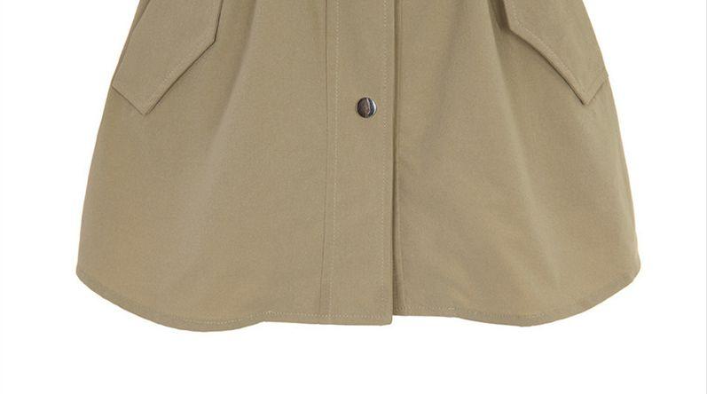 韓国 ファッション アウター トレンチコート 秋 冬 春 カジュアル PTXG245  スタンドカラー 袖リボン ウエストシェイプ オルチャン シンプル 定番 セレカジの写真20枚目
