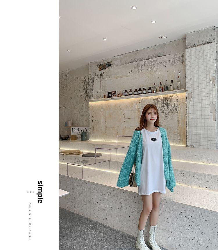 韓国 ファッション トップス カーディガン 秋 冬 春 カジュアル PTXG255  もこもこ モヘア風 プードルニット ゆったり オルチャン シンプル 定番 セレカジの写真17枚目