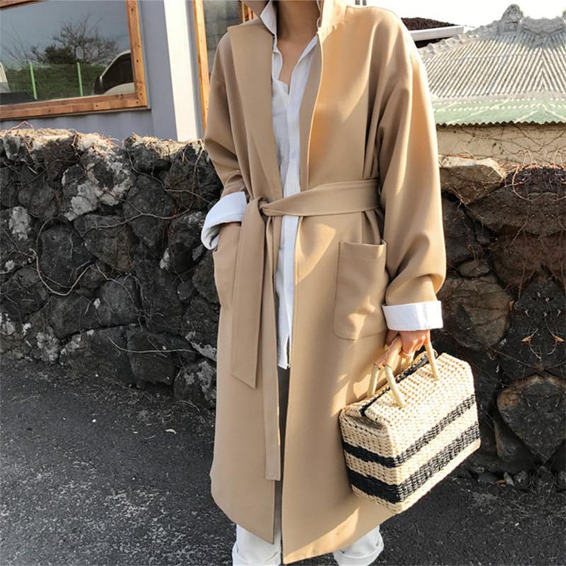 韓国 ファッション アウター コート 秋 冬 カジュアル PTXG281  テーラードカラー ボタン無し ビッグシルエット オルチャン シンプル 定番 セレカジの写真6枚目