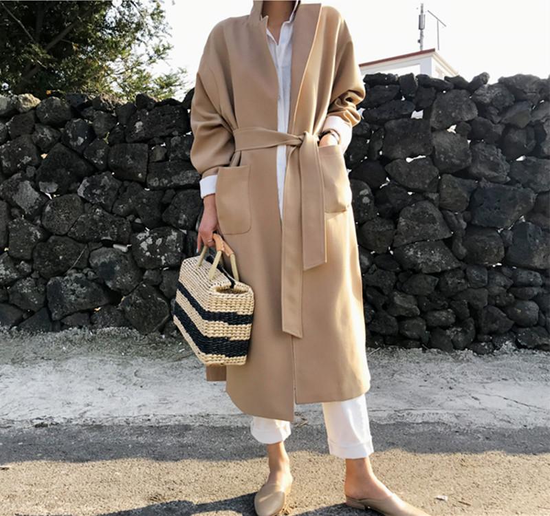 韓国 ファッション アウター コート 秋 冬 カジュアル PTXG281  テーラードカラー ボタン無し ビッグシルエット オルチャン シンプル 定番 セレカジの写真13枚目