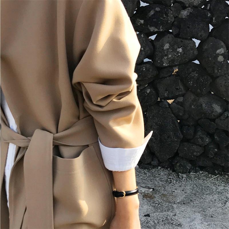 韓国 ファッション アウター コート 秋 冬 カジュアル PTXG281  テーラードカラー ボタン無し ビッグシルエット オルチャン シンプル 定番 セレカジの写真14枚目