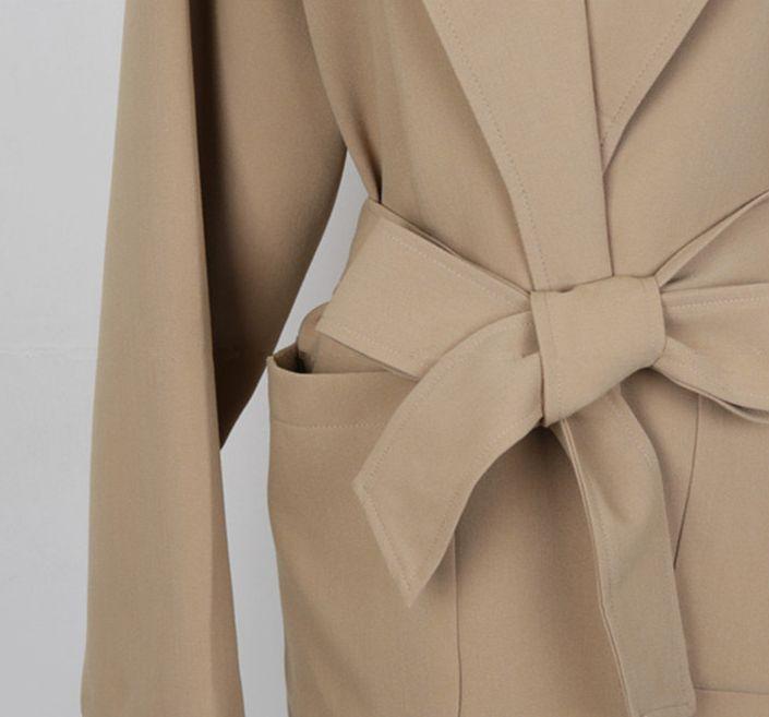 韓国 ファッション アウター コート 秋 冬 カジュアル PTXG281  テーラードカラー ボタン無し ビッグシルエット オルチャン シンプル 定番 セレカジの写真16枚目