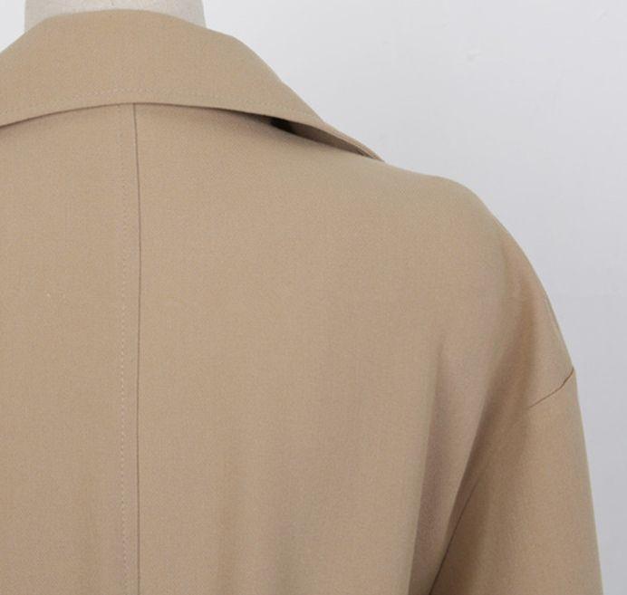 韓国 ファッション アウター コート 秋 冬 カジュアル PTXG281  テーラードカラー ボタン無し ビッグシルエット オルチャン シンプル 定番 セレカジの写真17枚目