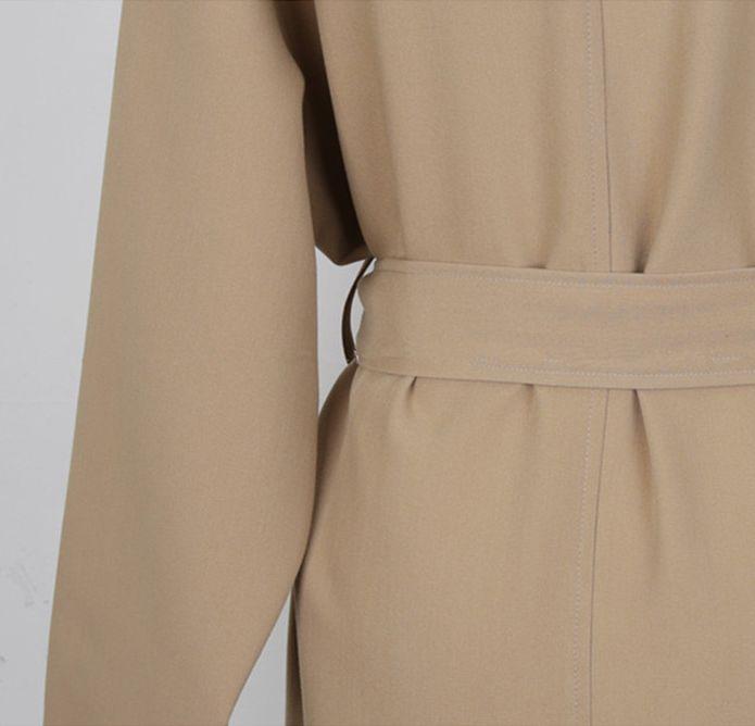 韓国 ファッション アウター コート 秋 冬 カジュアル PTXG281  テーラードカラー ボタン無し ビッグシルエット オルチャン シンプル 定番 セレカジの写真18枚目