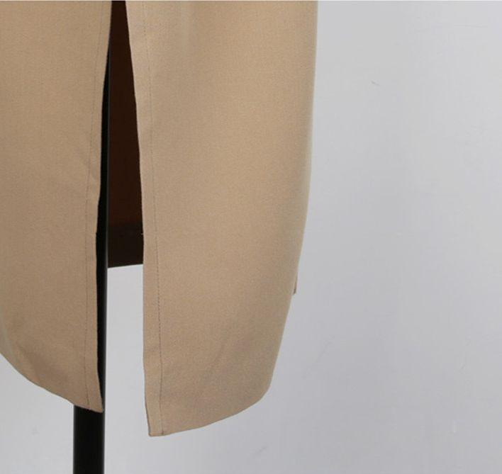 韓国 ファッション アウター コート 秋 冬 カジュアル PTXG281  テーラードカラー ボタン無し ビッグシルエット オルチャン シンプル 定番 セレカジの写真19枚目