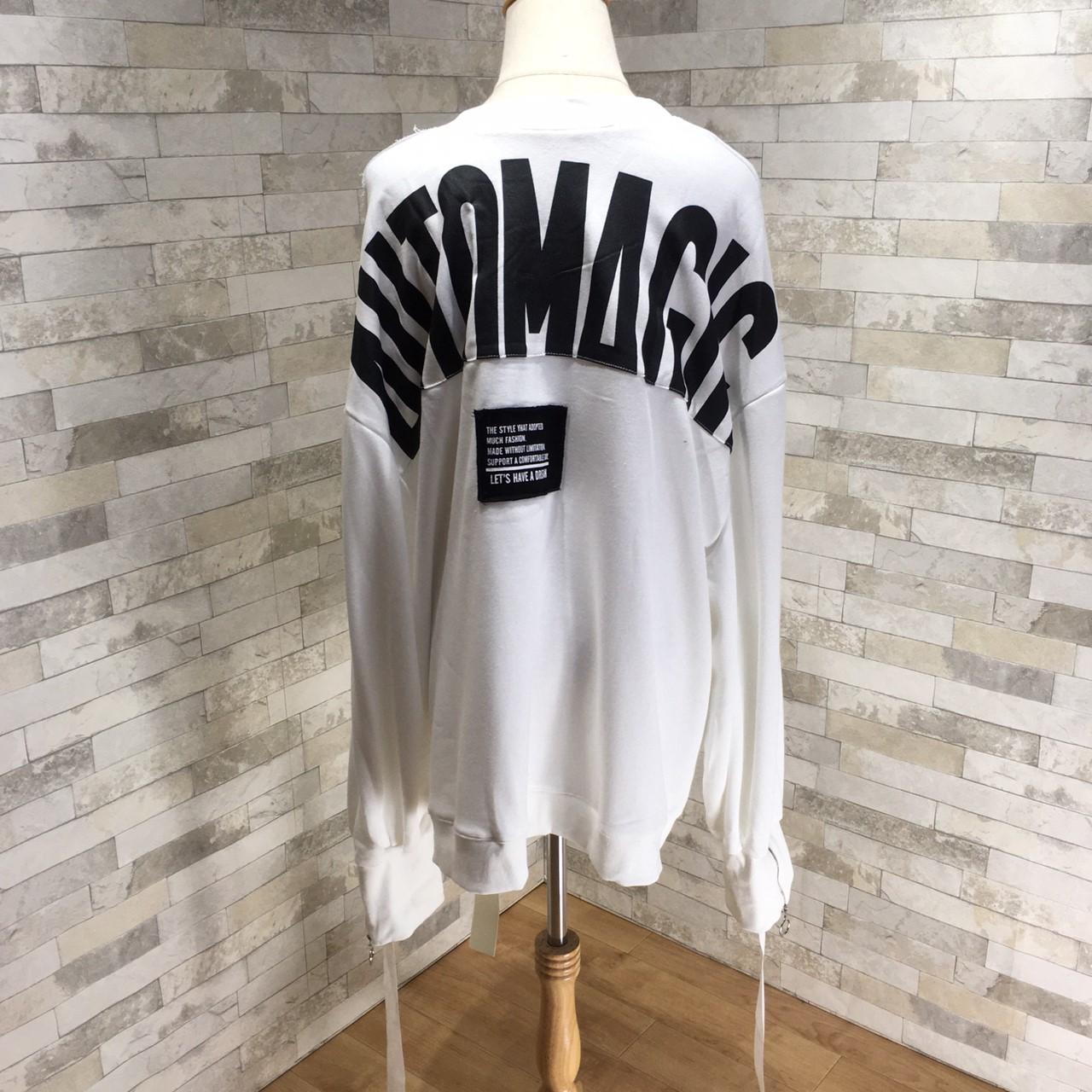 韓国 ファッション トップス スウェット トレーナー 秋 冬 カジュアル PTXG315  ビッグシルエット ダメージ ストリート オルチャン シンプル 定番 セレカジの写真17枚目