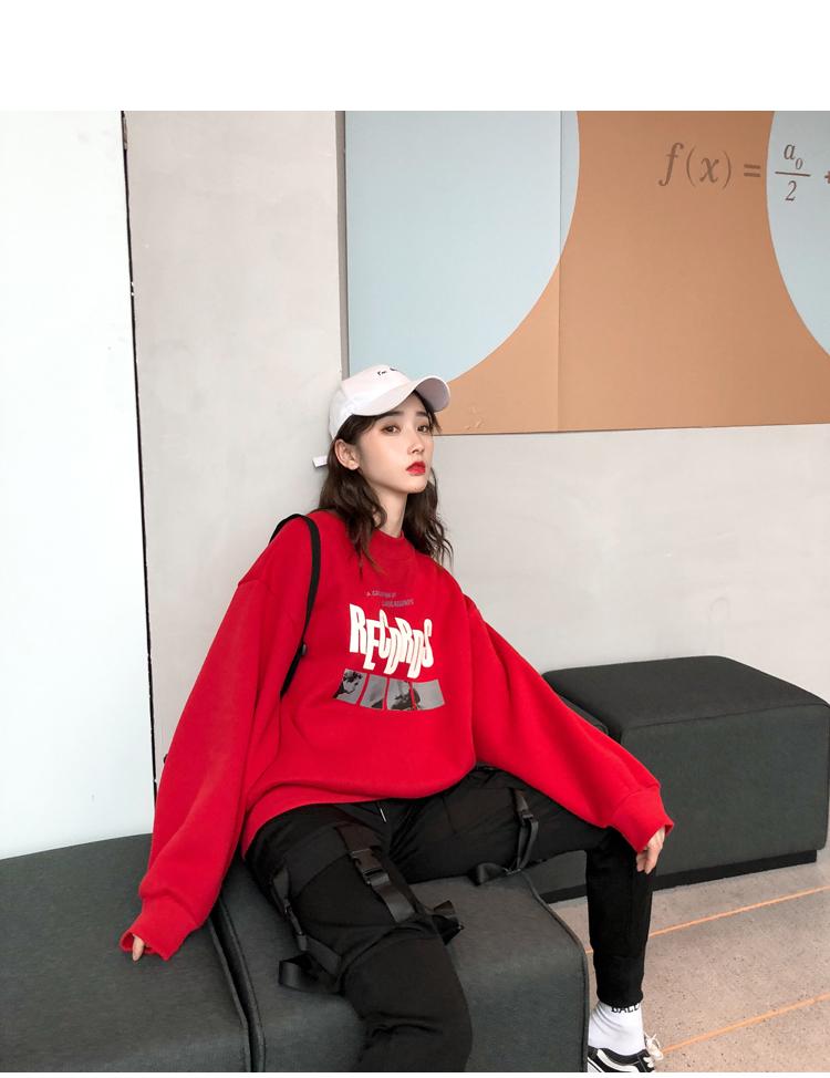 韓国 ファッション トップス スウェット トレーナー 秋 冬 カジュアル PTXG319  ビッグシルエット 萌え袖 ドロップショルダー オルチャン シンプル 定番 セレカジの写真8枚目
